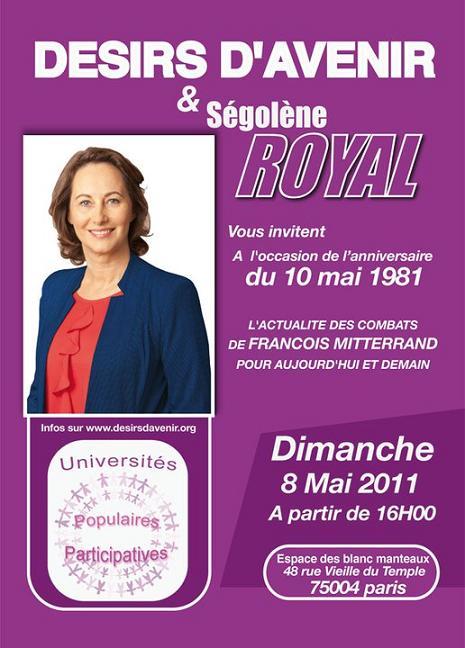 Invitation à l'UPP François Mitterrand